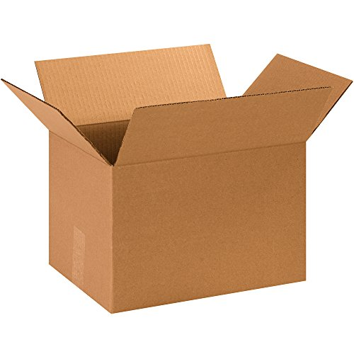 """Partners Brand P13109SK Corrugated Boxes, 13 3/4"""" L x 10 1/4"""" W x 9 1/8"""" H, Kraft (Pack of 500)"""