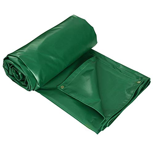 Heavy Duty Tarps Waterproof, Farm Tarpaulin Insulation Plastic Cloth Tarp Cover For Sandbox (Color : Green, Size : 15X9FT/5X3M)