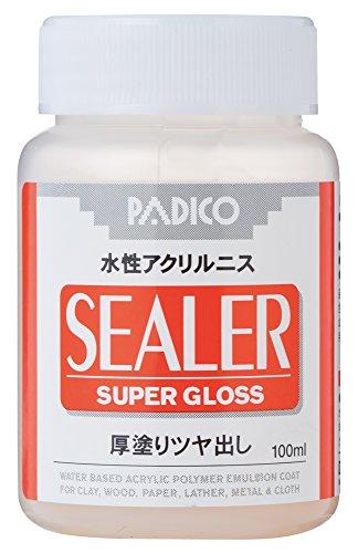 パジコ 水性ニス シーラー 厚塗りツヤ出し 100ml 透明 日本製 303216
