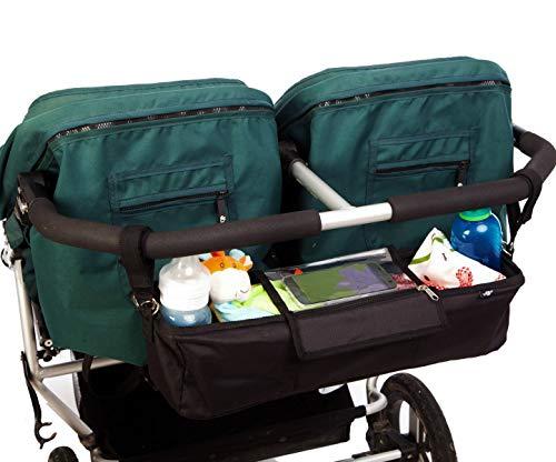 BTR Kinderwagen Organizer für Zwillings-Kinderwagen und Geschwisterwagen