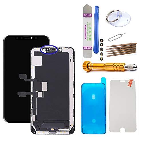 MPP UG - Pantalla táctil LCD de Repuesto para iPhone XS MAX A1921, A2101, A2102, A2104 (Incluye digitalizador y Herramientas, Cristal Protector de Pantalla)