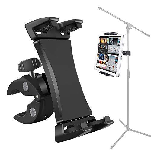 Soporte para micrófono y tablet, soporte para smartphone, resistente con abrazadera giratoria de 360, for tabletas de teléfono de 3,5 a 13,5 pulgadas, iPad Pro Air Mini 12,9 11 10,5, iPhone Galaxy