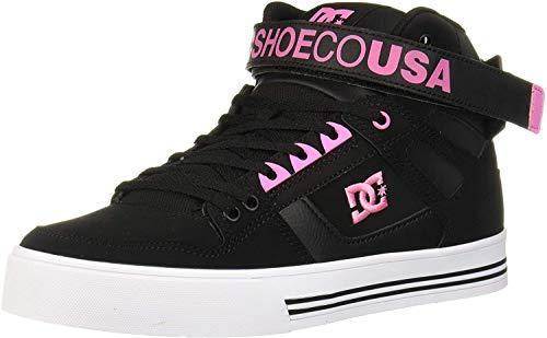 DC Damen Pure HIGH-TOP V Skate-Schuh, schwarz/pink, 36 EU