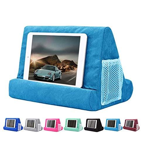 JoinHome Soft Pillow Tablet Pillow Stand for Ipad Stand Mult-Angle Tablet Phone Holder Lap Stand Mobile Phone Holder (Light Blue)