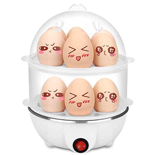 LOVEHOUGE Hervidor Eléctrico De Huevos para Tortillas Revueltas Duros Huevos Escalfados Verduras Al Vapor Dumplings,Capacidad para 1-7 Huevos,Sin...