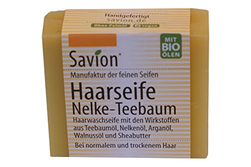 Savion: Haarwaschseife - Nelke-Teebaum 85g