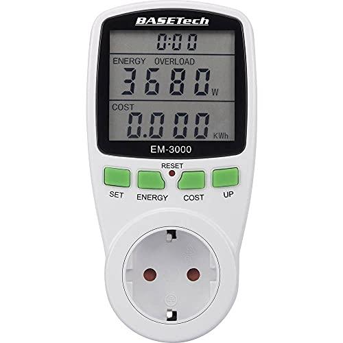Basetech EM-3000 Energiekosten-Messgerät Kostenprognose