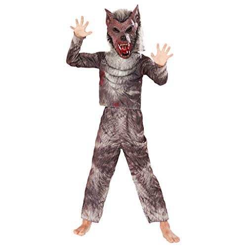 EraSpooky Werwolf Kostüm Wolf Faschingskostüme Maske Cosplay Halloween Party Karneval Fastnacht Kleid