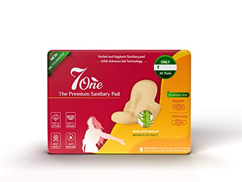 7one Organic Cottony Soft Cover Soft Wing (WITH ALOE-VERA GEL AND BOMBOO EXTRACT FIRST TIME IN INDIA) Sanitary Pad (Pack of 36) (XL-290 MM) (330 MM-XXL)