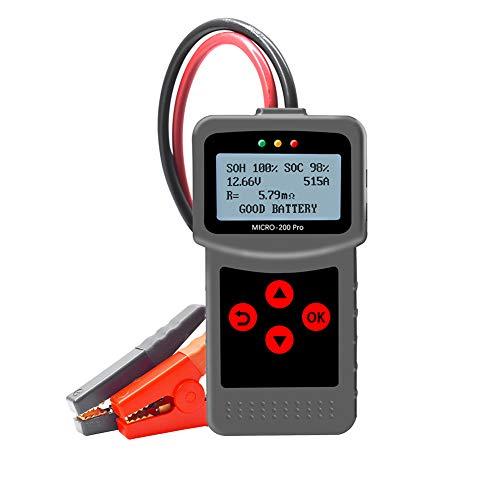Comprobador de batería para coche y motocicleta MICRO-200 PRO digital de descarga de carga de coche negro probador de batería