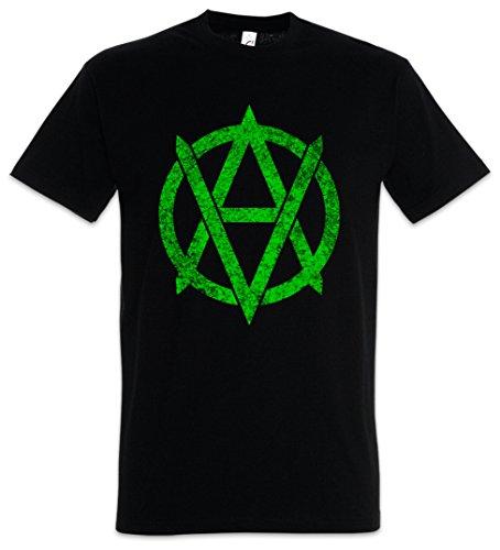 Urban Backwoods Vegananarchism Symbol Camiseta De Hombre T-Shirt Negro Talla M
