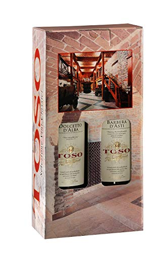 Toso S.p.a Toso S.P.A Confezione Vino Rosso Dolcetto D'Alba Doc, Vino Rosso Barbera D'Asti Docg, Piemonte, 2 Bottiglie, 2 X 750Ml - 1500 ml