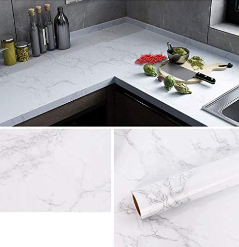 Fantasnight 40x300cm Marmor Folie Küche arbeitsplatte Folie selbstklebend möbelfolie klebefolie PVC wasserdicht dekorfolie für möbel küche Schrank Wand Tür Fenster