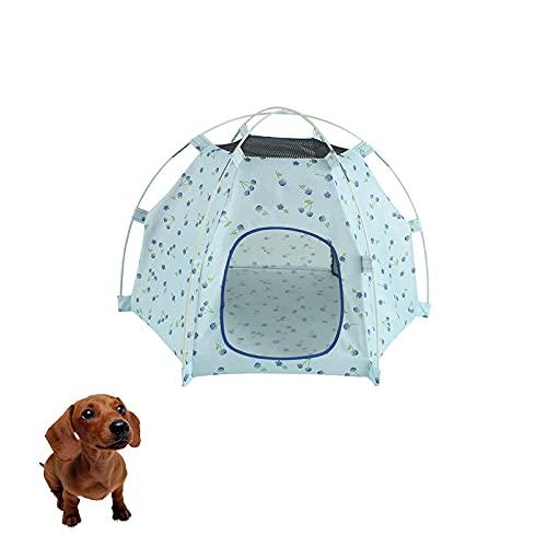 CHENGLONGTANG Pet Supplies Dog Casa de Mascotas al Aire Libre Plegable portátil para Mascotas, Impermeable, Impermeable y Durable Dormitorio para Perros, Camping al Aire Libre (Color : Blue)