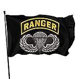 HJEMD 3x5 FT Flagge Fahnen Banner Us Army Ranger Tab Dekorative Gartenflaggen, Künstliche Außenflagge für Zuhause, Gartenhofdekorationen