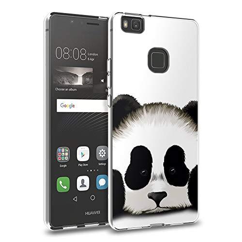 Zhuofan Plus Funda Huawei P9 Lite, Silicona Suave Clara Transparent TPU Gel con Diseño Print Pattern Anti-rasguños Shockproof Protactivo Cover para Huawei P9 Lite, Panda