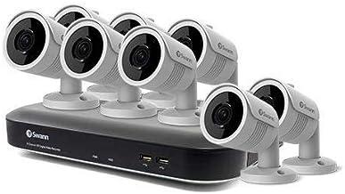 Swann 8 Channel 8 Camera DVR Security System, DVR-5580 with 1TB HDD, Weatherproof, Night Vision, Heat & Motion Sensing, Al...