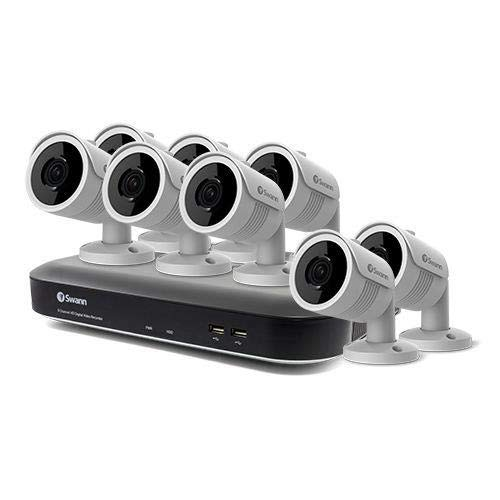 Swann 8 Channel 8 Camera DVR Security System, DVR-5580 with 1TB HDD, Weatherproof, Night Vision, Heat & Motion Sensing, Alexa + Google, SWDVK-855808U