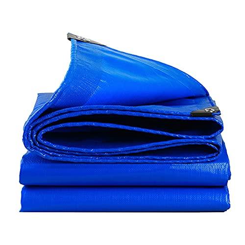 LIANGLIANG Lona Impermeable, Lona De Protección UV De Alta Resistencia, Paño De Protección Solar Retardante De Llama De Alta Densidad De 0,35 Mm para Cubierta De Automóvil, Jardín Al Aire Libre, Azul