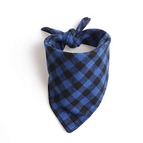 Hondenhalsband, blauw, driehoek, speekselsjaal in Britse stijl, dubbellaags, zacht, gentleman kluis, hondenhalsband voor alle seizoenen, ademend, zacht gevoerd, licht, accog, M 45*45*60