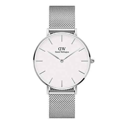 Daniel Wellington Petite Sterling, Reloj Plateado, 36mm, Metálico, para Mujer y Hombre