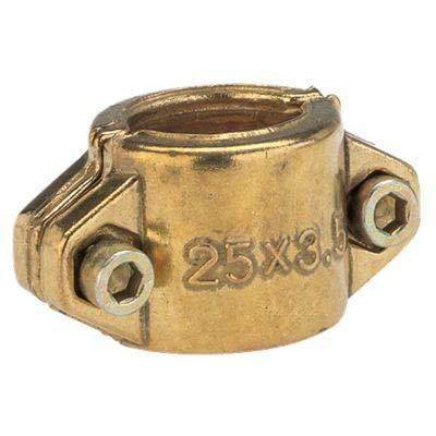Gardena Klemmschalen: Schlauchschelle aus Messing zur Befestigung von Saug- oder Hochdruckschläuchen, passend für 19 mm (3/4 Zoll)-Schläuche (7210-20)