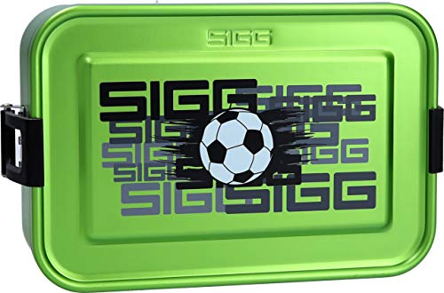 Sigg Metal Box Plus S Football Green Essensbehälter, Grün, S