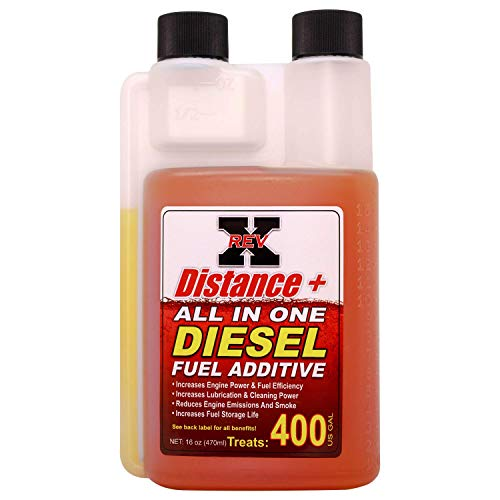 REV X Distance + Diesel Fuel Additive - 16 oz. Treats 400 Gallons