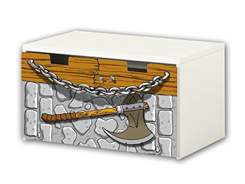 Caballero pegatinas | pegatinas para muebles | BT20 | adecuado para el arcón de banco STUVA von IKEA para niños (90 x 50 cm) | Perfecto como arcón de juguetes y banco