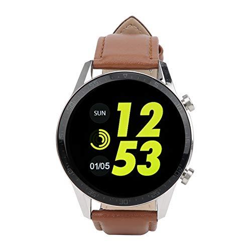 WNSC Orologio Completamente tattile, smartwatch, indossabile per Camminare e Correre(Marrone)