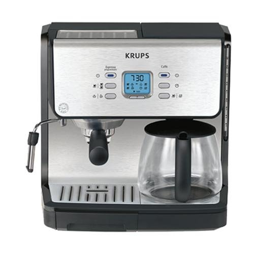 KRUPS XP2070 Programmable 10-Cup Coffeemaker/15-Bar Pump Espresso Machine