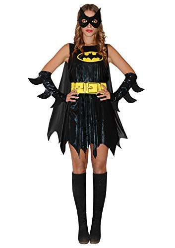 Ciao- Batgirl Costume Donna Originale DC Comics (Taglia S) Disfraces, Color Negro, 11676