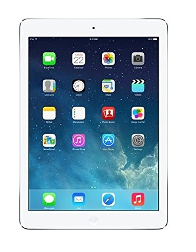 Apple iPad Air MD788LL/A 16GB, Wi-Fi, White with Silver with Verizon Leather/Nylon Tablet Sleeve Bundle (Refurbished)