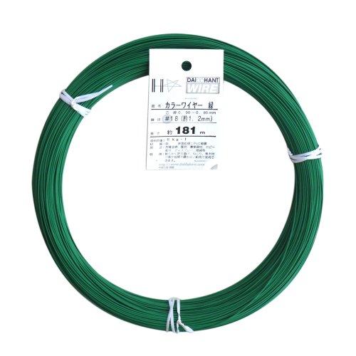 ダイドーハント (DAIDOHANT) 針金 [ビニール被覆] カラーワイヤー グリーン ( 緑 ) [太さ] #18 (1.2 mm x [長さ] 181m 54016