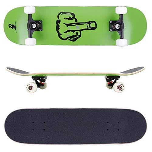 FunTomia® Skateboard mit ABEC-9 Kugellager Rollenhärte 100A und 100% 7-lagigem kanadisches Ahornholz (Finger)