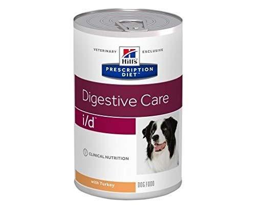 Hills Prescription Diät Hunde i/d Verdauungspflege Truthahn 12 x 360g Nassfutter für Hunde Magen-Darmprobleme Leicht verdauliche Inhaltsstoffe GRATIS Alpha Spirit Huhn Ristra Sticks