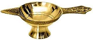 ASTRODIDI Brass Table Diya Pital Jyot Diva (Golden, Small)