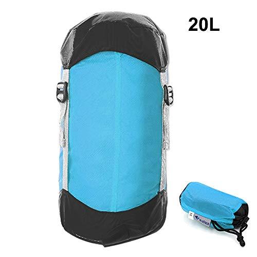 Générique Sac de Couchage de Compression Ultra léger avec Cordon de Serrage pour randonnée, Camping, Nemo (Couleur : 20 L)