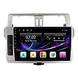 Unidad principal de navegación GPS estéreo para automóvil de doble Din con radio FM Bluetooth Módulo Wifi incorporado Soporte USB / 1080P Video/Carplay DSP RDS (4 + 64), para Toyota Prado 150 2013-2