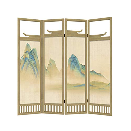 Sale!! Even Legacy Decor 4 Panel, Espresso Color Wood Screen Room Divider, Creative Chinese Ancient ...