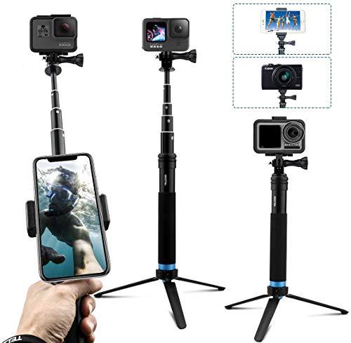 AuyKoo Palo de Selfie Trípode para Gopro, Extension Imperme