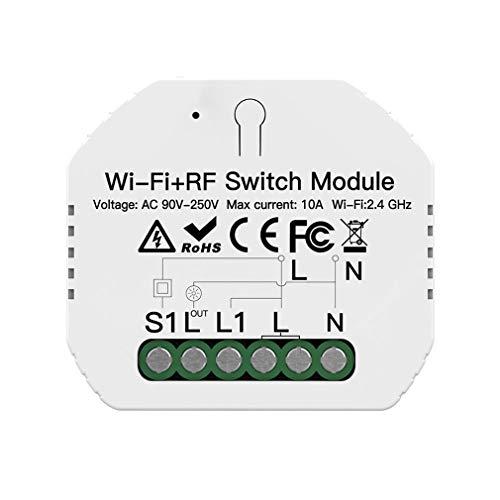 Nsdsb DIY Mini WiFi Módulo De Interruptor De Atenuación De Luz Inteligente Smart Life Control Remoto Blanco