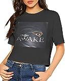 Tengyuntong Camisetas y Tops Hombre Polos y Camisas, Camiseta para Mujer Skillet Awake Crop Top de Manga Corta