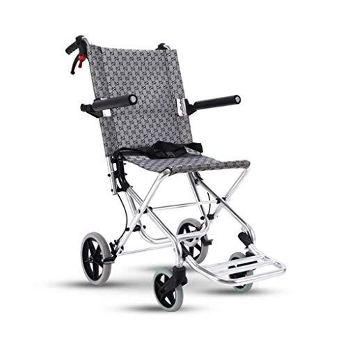 Z-SEAT Ultralight Wheelchair, Handheld Boarding Travel Wheelchair, Folding Wheelchair Trolley with Brake and Locking System, Walker for Elderly and Children