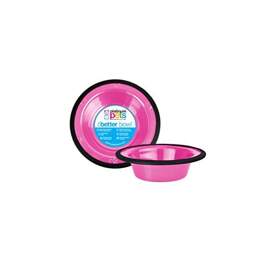 Platinum Pets Edelstahl für 1Tasse Schale mit breitem Rand, Pink