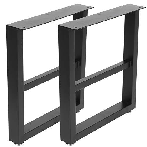 Caminos de mesa de diseño industrial Patas de mesa Patas de mesa de hierro Mesa de comedor Pata de escritorio Marco de mesa Juego de base de mesa Accesorios de mesa de metal (39.5 x 8 x 44.5 cm)