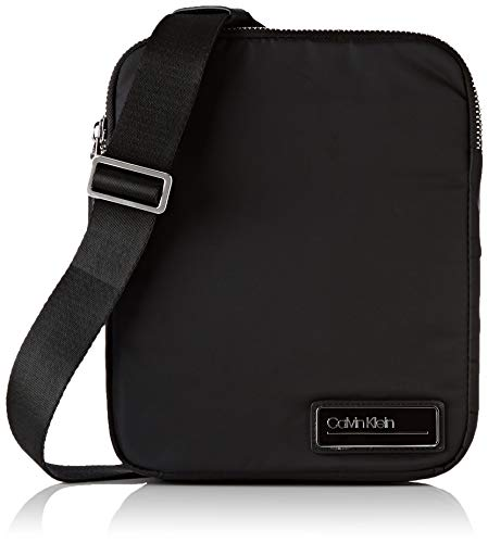 Calvin Klein Herren Primary 2 G Ipad Flat Crossover Schultertasche, Schwarz (Black), 5x27x22 cm