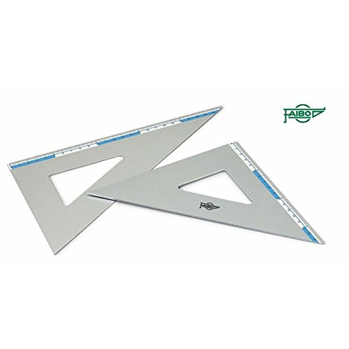 Faibo Escuadras 45º y cartabones 60º en aluminio de alta (26 cm.)