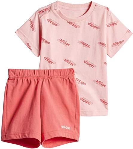 adidas Kinder Trainingsanzug Infant Favorites Short Sleeve Set, Glory Pink/Glory Pink, 92, FM0657