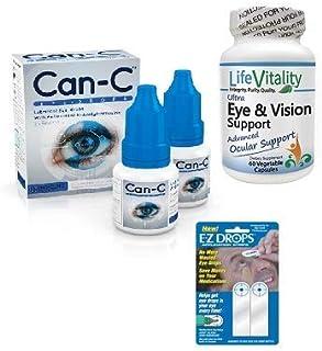 Can-C Eye Drops, Life Vitality Ultra Eye & Vision Support, EZ Drops Bundle Deal